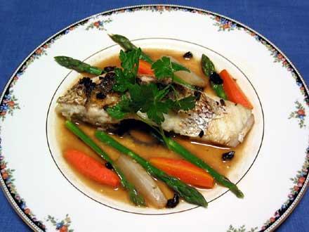 真鯛と新野菜の蒸し煮