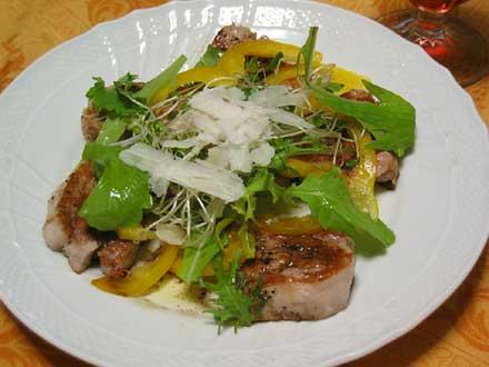 豚ヒレ肉のソテー サラダ仕立て