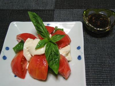 ざる豆腐とトマトのサラダ
