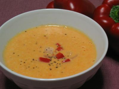 赤ピーマンのスープ