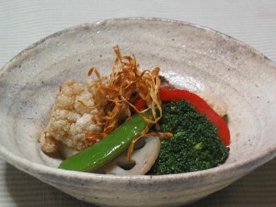 冬野菜のホットサラダバルサミコ風味
